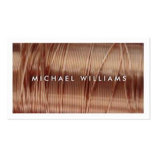 hilo de cobre eléctrico tarjetas de visita