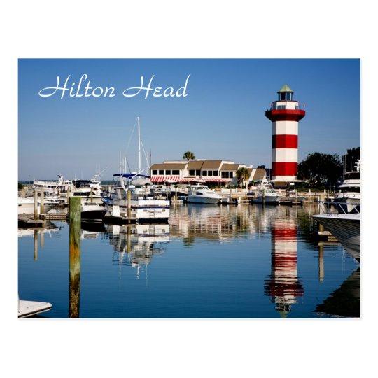 Hilton Head, postal del faro de la ciudad del
