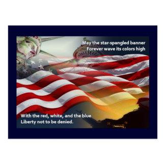 Himno americano de la libertad tarjetas postales