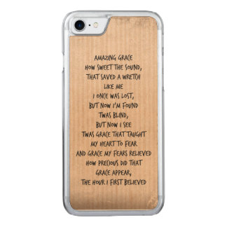 Himno asombroso de la tolerancia del vintage funda para iPhone 7 de carved