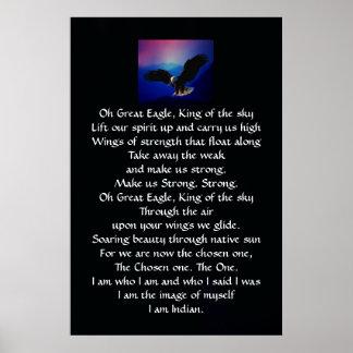 Himno del indio del nativo americano póster