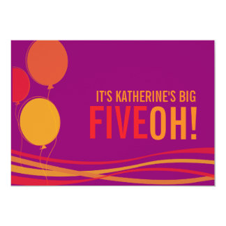 ¡Hinche 50.o FIVEOH! el cumpleaños de la foto Invitación 12,7 X 17,8 Cm