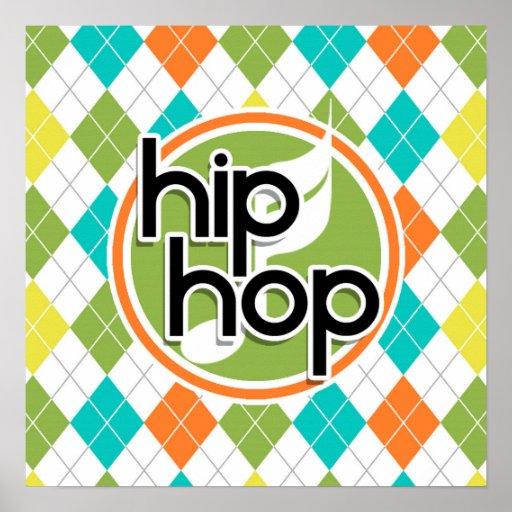 Hip Hop; Modelo colorido de Argyle Posters