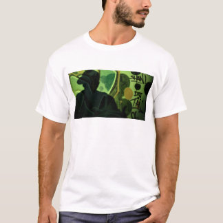 Hip hop rap rapper singer at night in dark nightcl camiseta