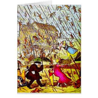 Hipérbole que llueve la tarjeta de felicitación de