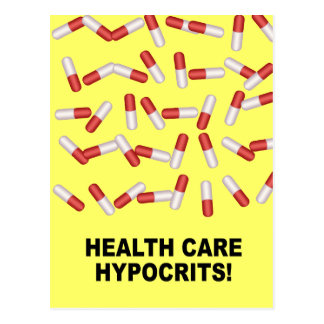 Hipócritas de la atención sanitaria postales