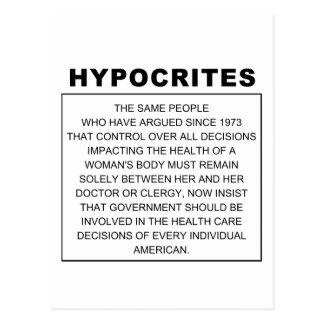 Hipócritas Postales