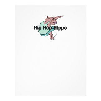 Hipopótamo de Hip Hop de la CAMISETA Folleto 21,6 X 28 Cm