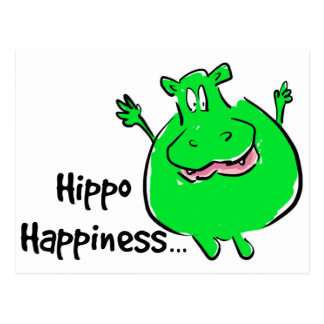 Hipopótamo de la felicidad - postal