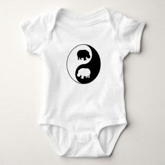 Hipopótamo de Ying yang Body Para Bebé