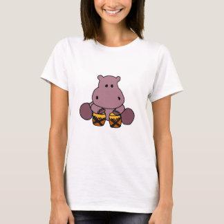 Hipopótamo impresionante del CE que juega los Camiseta