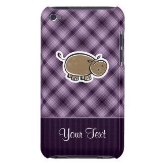Hipopótamo lindo; Púrpura Funda Case-Mate Para iPod