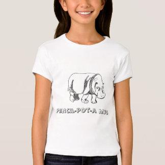 hipopótamo, mus del lápiz-pote-uno camisetas