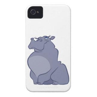 Hipopótamo para el navidad funda para iPhone 4