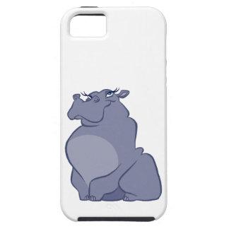 Hipopótamo para el navidad funda para iPhone SE/5/5s