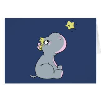 ¡Hipopótamo y estrella! Tarjeta