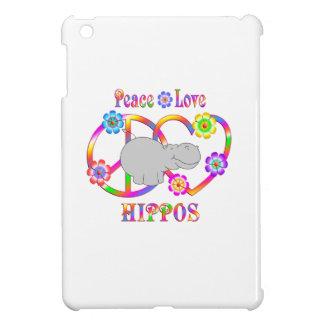 Hipopótamos del amor de la paz