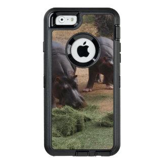 hipopótamos funda OtterBox defender para iPhone 6