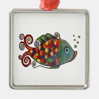 Hippie artsy de los pescados caprichosos impresion ornamentos de reyes magos