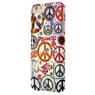 Hippie de la paz y del amor del flower power funda de iPhone 6 plus barely there