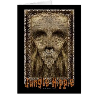 Hippie de la selva tarjeta de felicitación