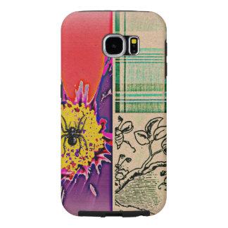 Hippie del arte pop de la tela escocesa de la flor funda samsung galaxy s6