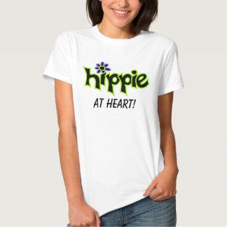 Hippie en decir negro gráfico colorido de la camisetas