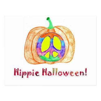 ¡Hippie Halloween! Postal