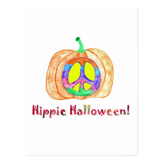 ¡Hippie Halloween Tarjetas Postales