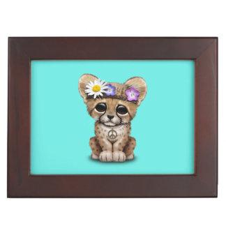 Hippie lindo de Cub del guepardo Caja De Recuerdos
