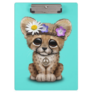 Hippie lindo de Cub del guepardo Carpeta De Pinza