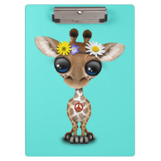 Hippie lindo de la jirafa del bebé carpeta de pinza