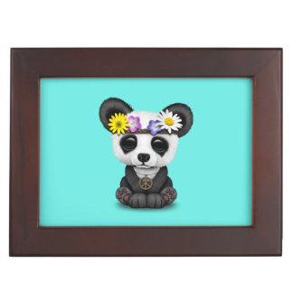 Hippie lindo de la panda del bebé caja de recuerdos