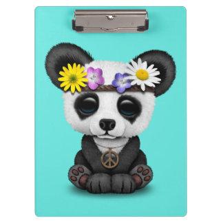 Hippie lindo de la panda del bebé carpeta de pinza