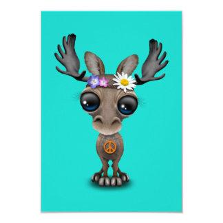 Hippie lindo de los alces del bebé invitación 8,9 x 12,7 cm