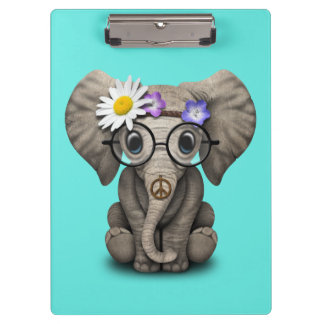 Hippie lindo del elefante del bebé carpeta de pinza