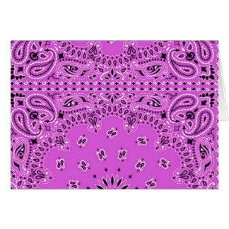 Hippie occidental de la bufanda del pañuelo de tarjeta de felicitación
