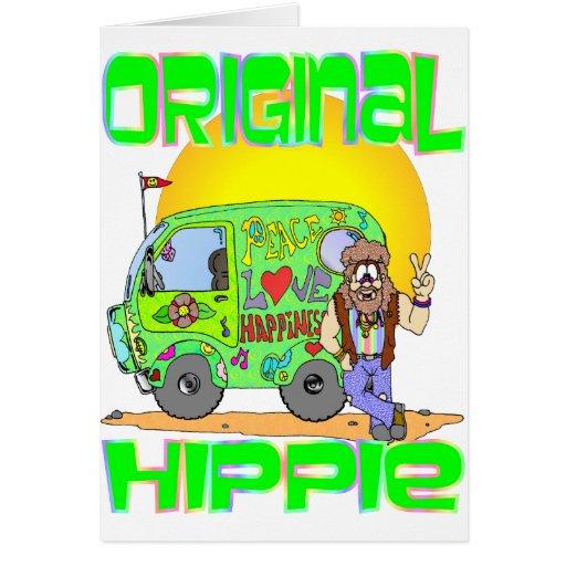 Hippie original tarjeta