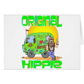 Hippie original tarjeta de felicitación