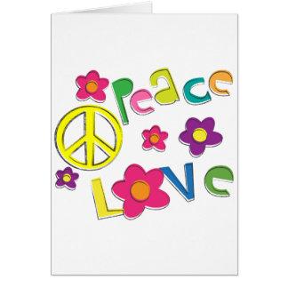 hippie tarjeta de felicitación