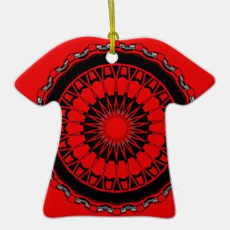 Hippie Trippy 4 de la ropa de Kris Alan Adorno De Cerámica En Forma De Camiseta
