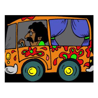 Hippie Van de los años 60 Postal
