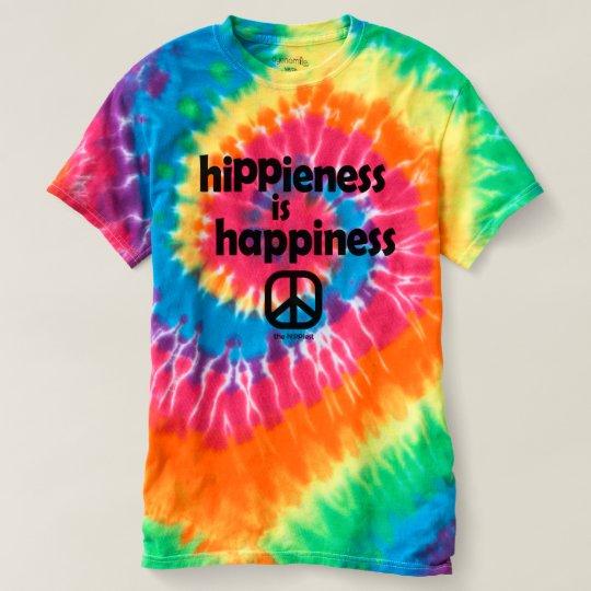 Hippieness es señoras de la camiseta del teñido