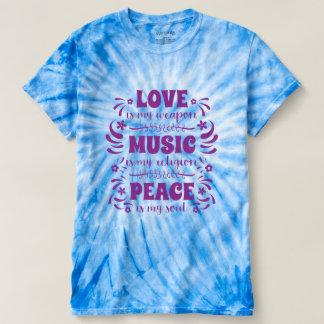 hippies de los años 70: El amor es mi arma, música Camiseta