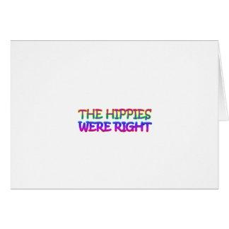 hippies tarjetón