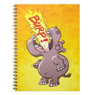Hippopotamus Burping en alta voz Libros De Apuntes