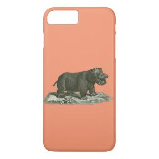 Hippopotamus del caso del iphone funda iPhone 7 plus