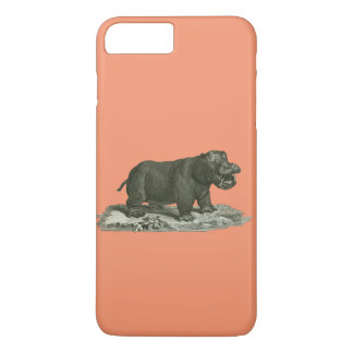 Hippopotamus del caso del iphone funda para iPhone 8 plus/7 plus