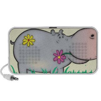 hippopotamus lindo del hipopótamo del hippie de la notebook altavoces