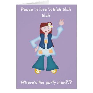 Hippy delincuente de la muñeca tarjeta de felicitación